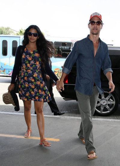 Matthew McConaughey and Camila Alves Hold Hands as They Head to LAX
