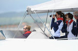 Kate Middleton and Princess Anne observed sailing.