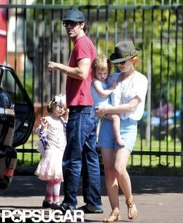 Sacha Baron Cohen and Isla Fisher at Kids Birthday Party