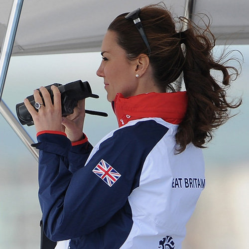 Kate Middleton Watches Olympic Sailing