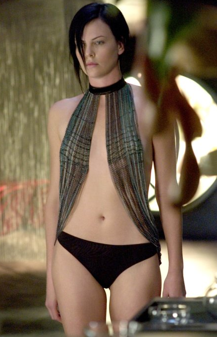 Charlize Theron wore a unique costume in 2005's Aeon Flux.