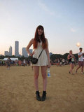 This LWD made its Lollapalooza appearance accompanied by a compact crossbody purse and vintage black boots.