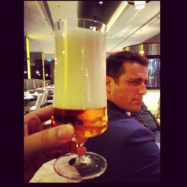 Ben Fordham's beer as poured by Karl Stefanovic. Source: Instagram user thetodayshow