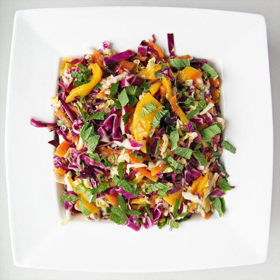 Spicy Cabbage, Mango, and Papaya Slaw Recipe | POPSUGAR Food