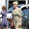 Michelle Williams Wearing Green Floral Dress