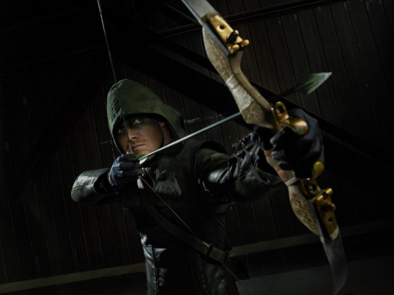 Stephen Amell as Green Arrow.