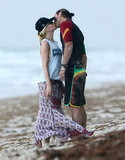 Gwen Stefani and Gavin Rossdale held hands and shared a kiss during their August stay in Miami.
