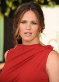 Jennifer Garner loosely wore her hair up.
