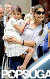 Katie Holmes smiled with her daughter, Suri Cruise.