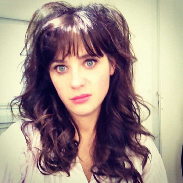 Zooey Deschanel showed off some major bedhead. Source: Instagram user zooeydeschanel