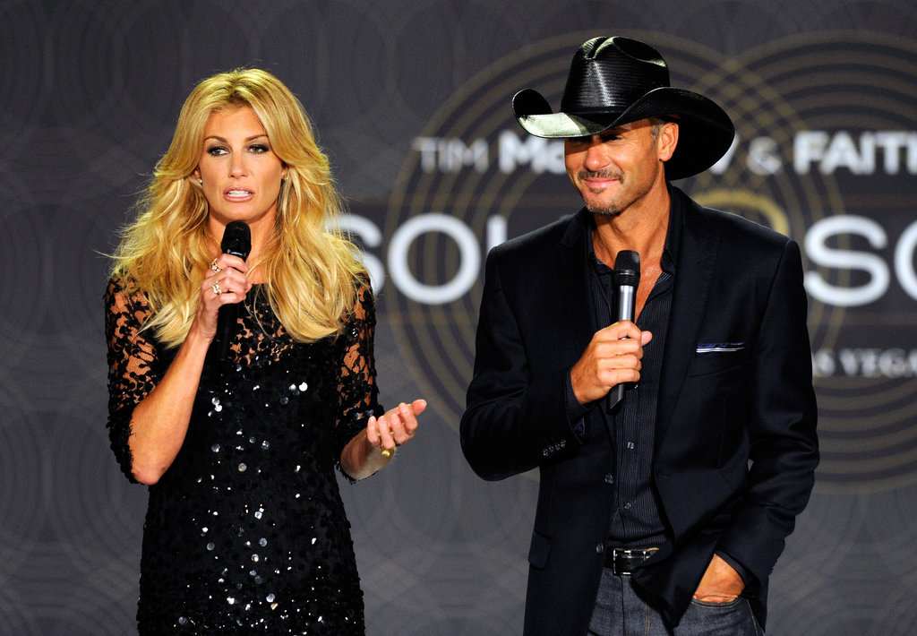 Faith Hill and Tim McGraw announced upcoming performances scheduled for December to April.