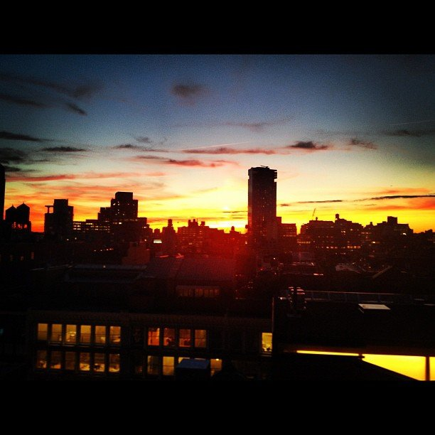 Ivanka Trump shared a photo of the gorgeous NYC sunset. Source: Instagram user ivankatrump