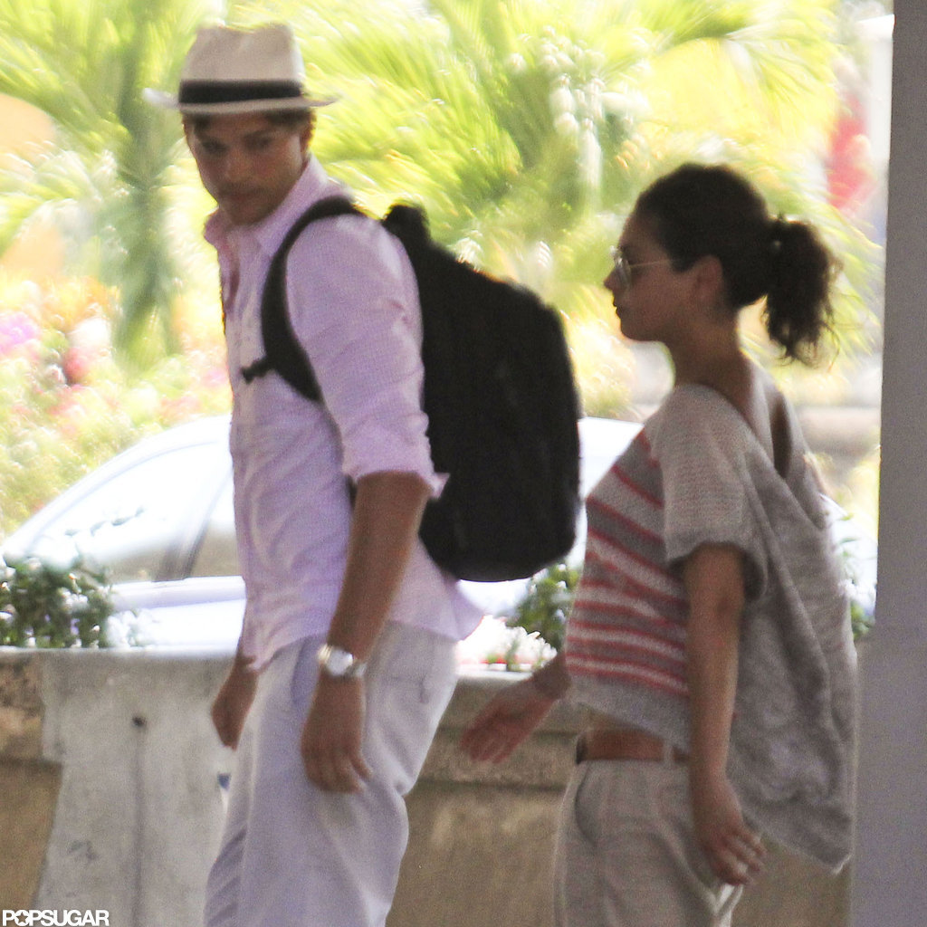 Ashton Kutcher and Mila Kunis wrapped up their stay in Bali.