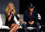 Faith Hill showed her husband Tim McGraw sweet affection.