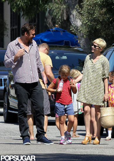 Michelle Williams and Jason Segel walked Matilda to gymnastics in LA.