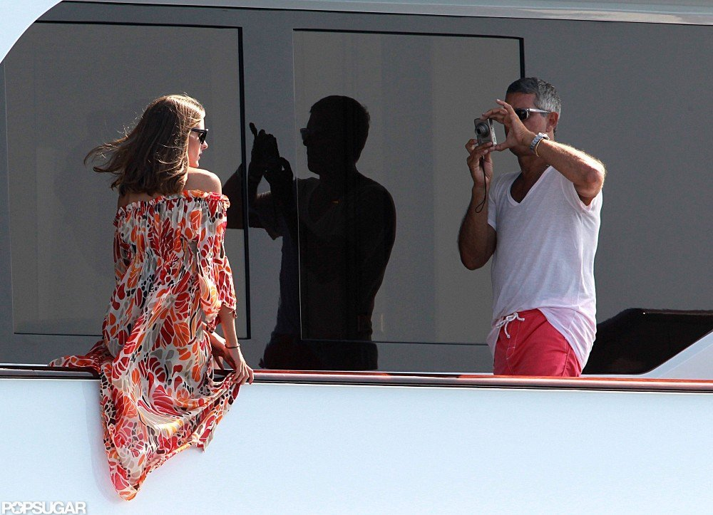 Olivia Palermo had her picture taken on a yacht docked in Spain.