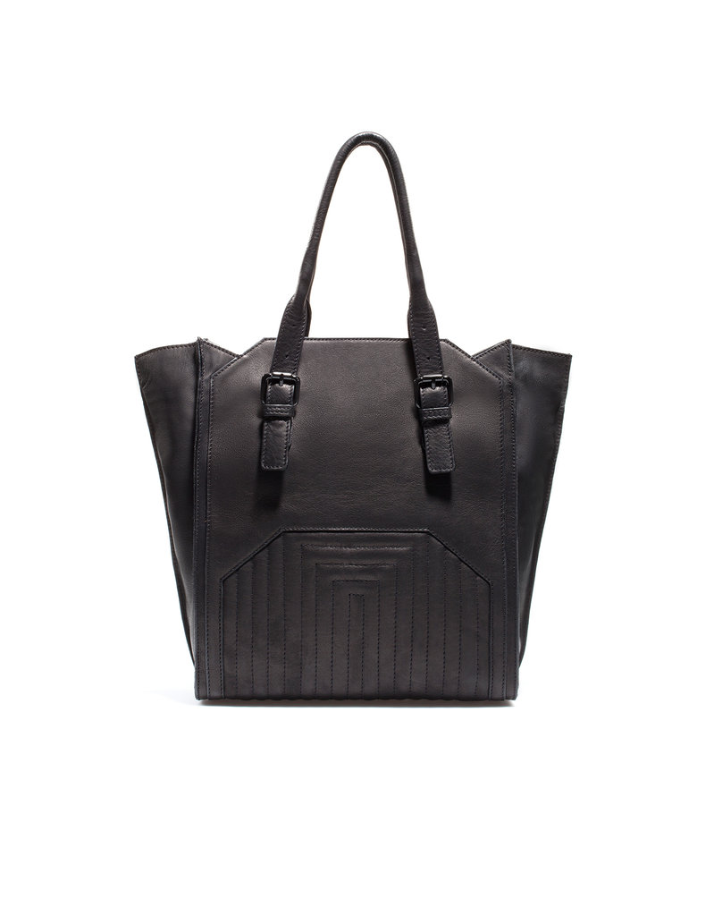 This leather tote puts a chic spin on the classic book bag. Zara Quilted Leather Shopper ($169)