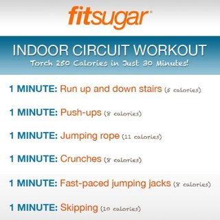 Indoor Circuit Workout Poster