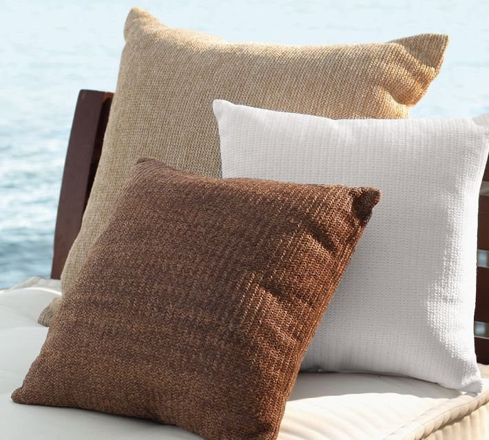 These Faux Natural-Fiber Indoor/Outdoor Pillows ($31-$39, originally $40-$50) have the polished look of linen but can repel water.