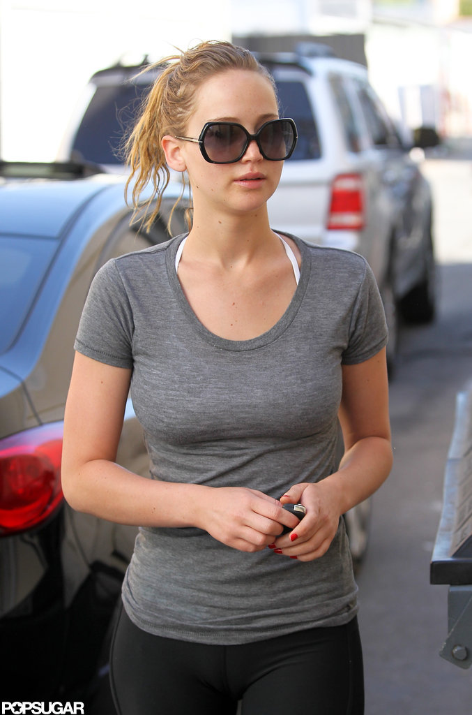 Jennifer Lawrence went to a boxing workout in LA.