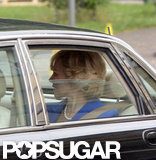 Naomi Watts was chauffeured in a car as Princess Diana.