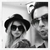 Joey Maalouf puckered up with Rachel Zoe. Source: Instagram user joeymaalouf