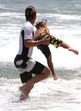 Gavin Rossdale got playful with Kingston Rossdale.