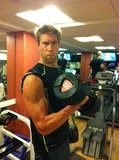 Matt Grevers pumped iron. Source: Twitter user MattGrev