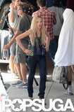 Portia de Rossi walked through a scene in LA.