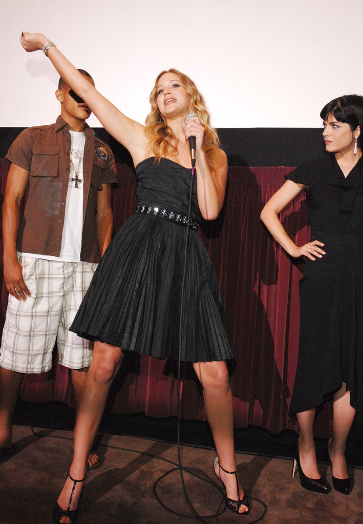 Jennifer Lawrence rocked out in Westwood, CA, at the LA Film Festival's Poker House screening in June 2008.