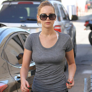 Jennifer Lawrence Going to the Gym in LA Pictures