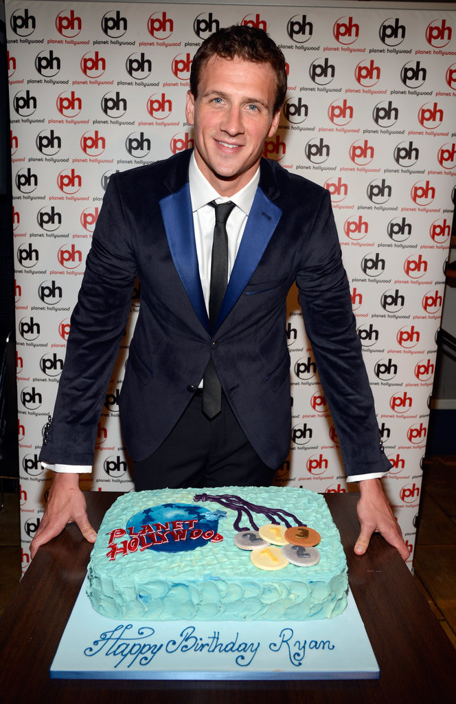 Ryan Lochte's birthday cake was fittingly decorated with Olympics medals.