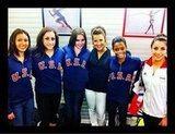 Carly Patterson caught up with USA's fab five.  Source: Twitter user CarlyPatterson