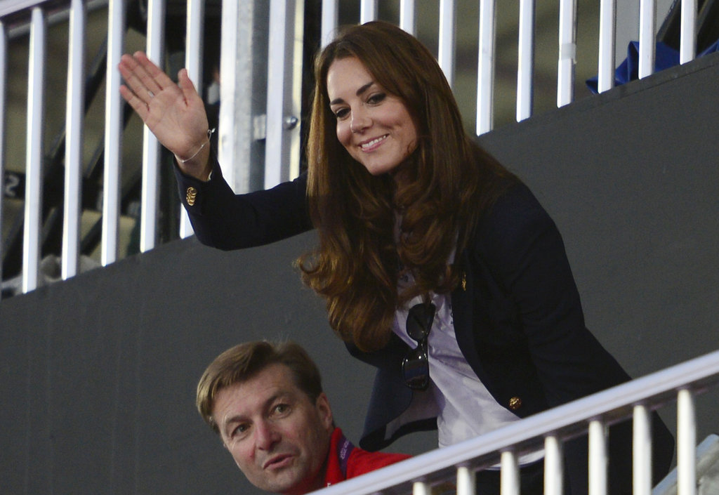 Kate Middleton attended the women's hockey semifinal between Argentina and Team GB at the Olympics.
