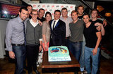 Ryan Lochte's friends went out to celebrate his 28th birthday.