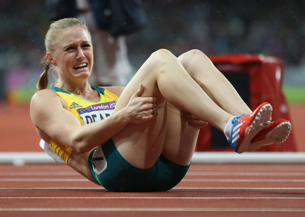 Australia's Sally Pearson cried tears of joy after winning gold in the women's 100m hurdles.