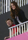 Kate smiled during the women's hockey semifinal.