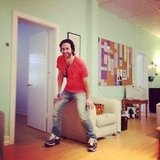 Whitney Cummings caught her Whitney costar Chris D'Elia goofing off. Source: Instagram user therealwhitney