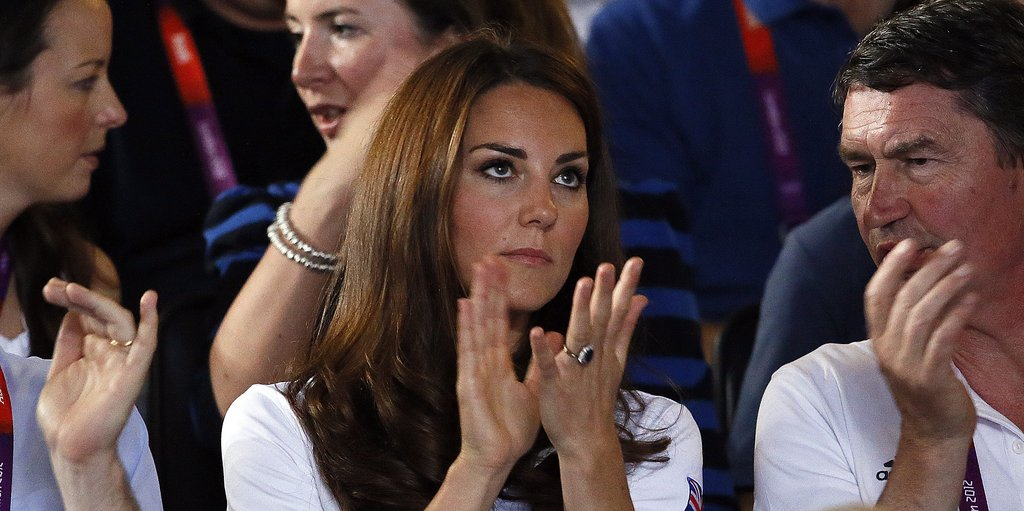 Kate Middleton watched the women's flyweight boxing final of the 2012 London Olympic Games between Cancan Ren of China and Britain's Nicola Adams.