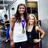 Shawn Johnson caught up with gold medal winner Misty May Treanor.Source: Instagram user shawnjonhnson