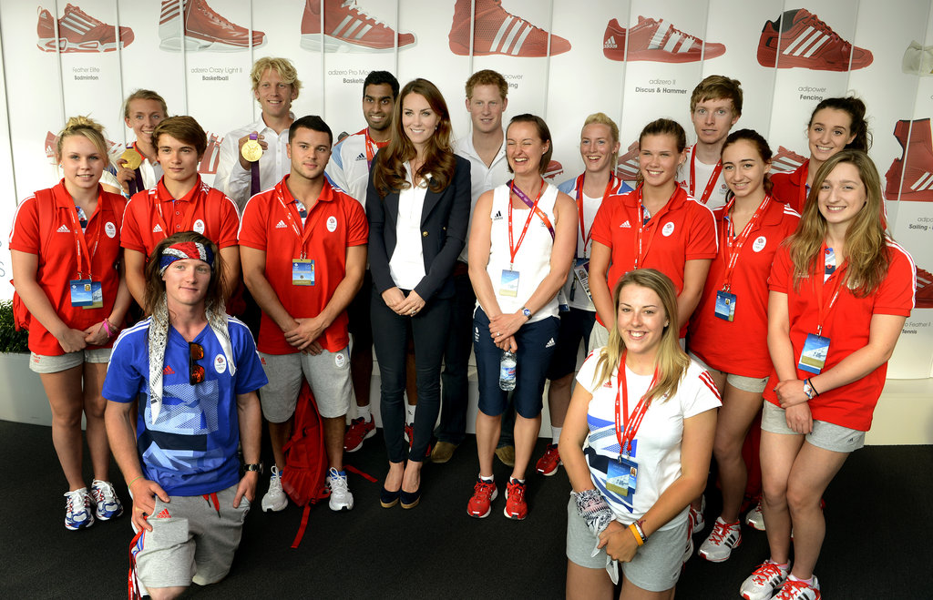 Kate Middleton Has a Busy Olympics Day With Princes Harry and Albert