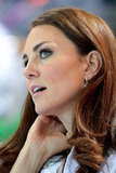 Kate Middleton wore her hair down at the women's teams synchronized swimming event.
