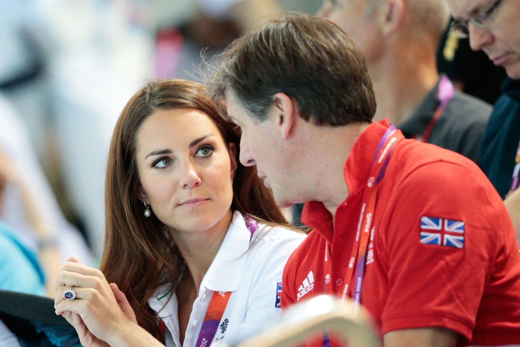 Kate Middle chatted with Great Britain ambassador Robin Cousins during the Olympic Games in London.