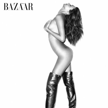 Nearly Nude Miranda Kerr Photos in US Harper's Bazaar September Issue, Shot By Terry Richardson