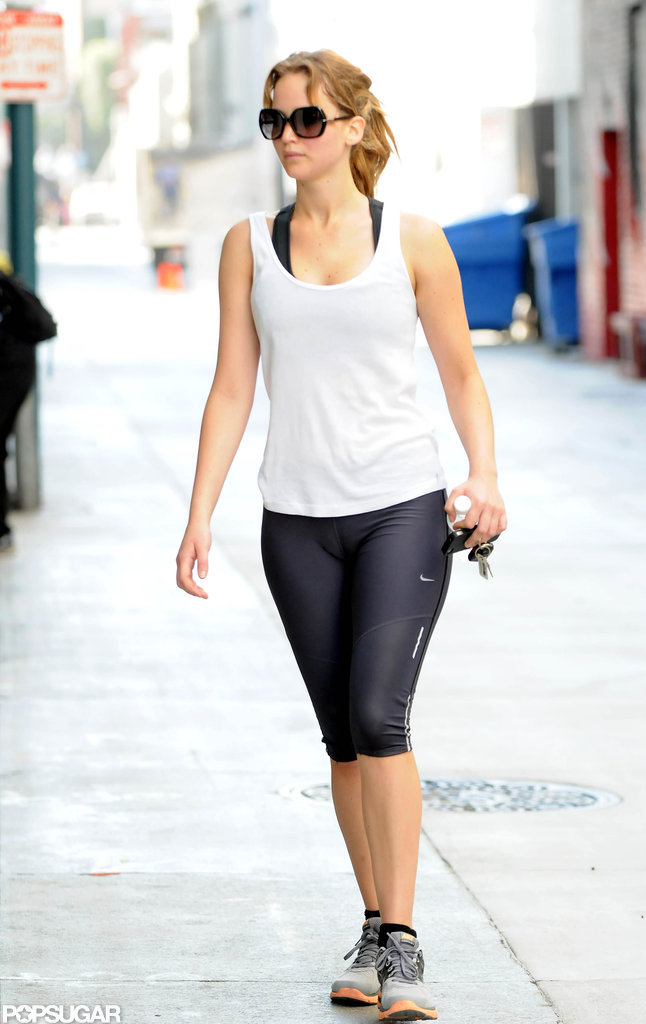 Jennifer Lawrence worked out at a gym in California.