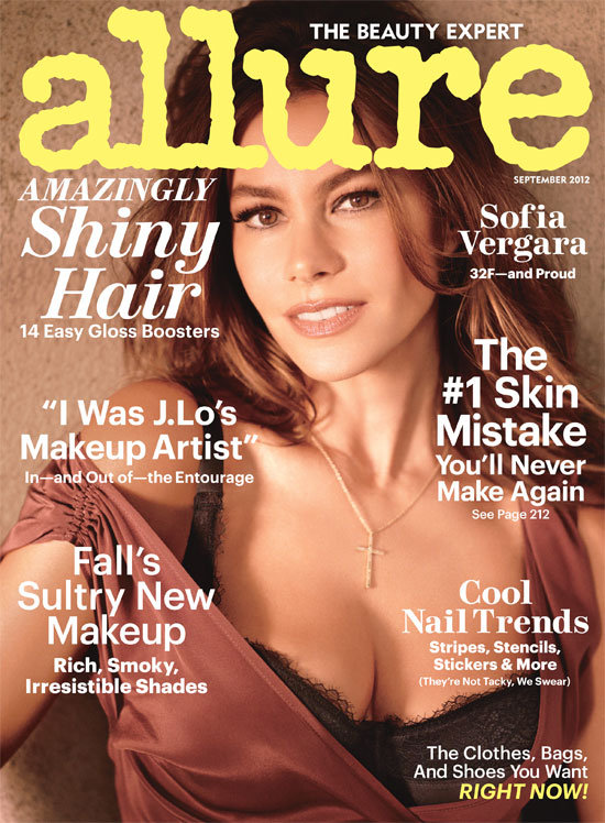 Sofia Vergara was the cover girl for Allure magazine's September 2012 issue.