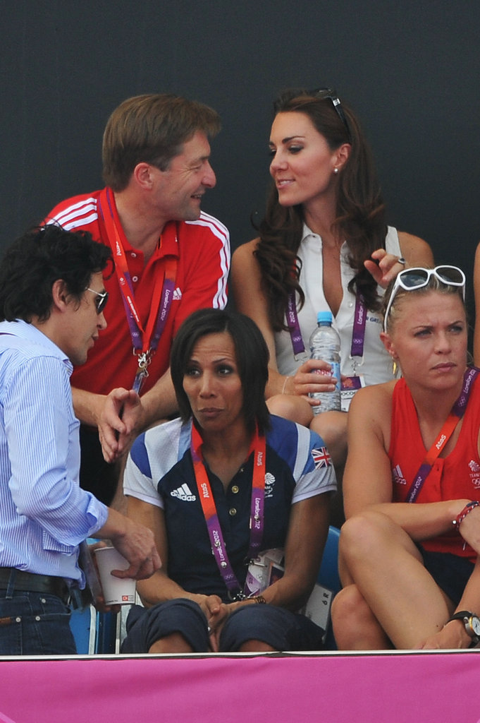 Kate Middleton chatted with a fellow fan.
