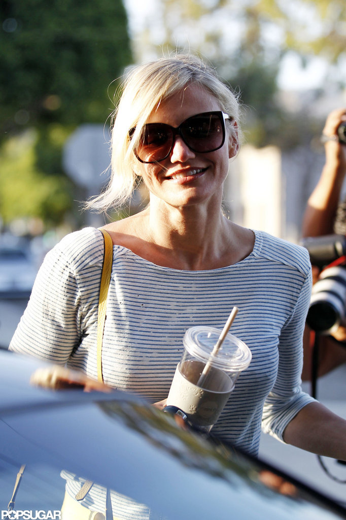Cameron Diaz got into her car.