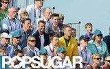 David Beckham and his sons Romeo Beckham, Cruz Beckham, and Brooklyn Beckham watched the BMX finals together.