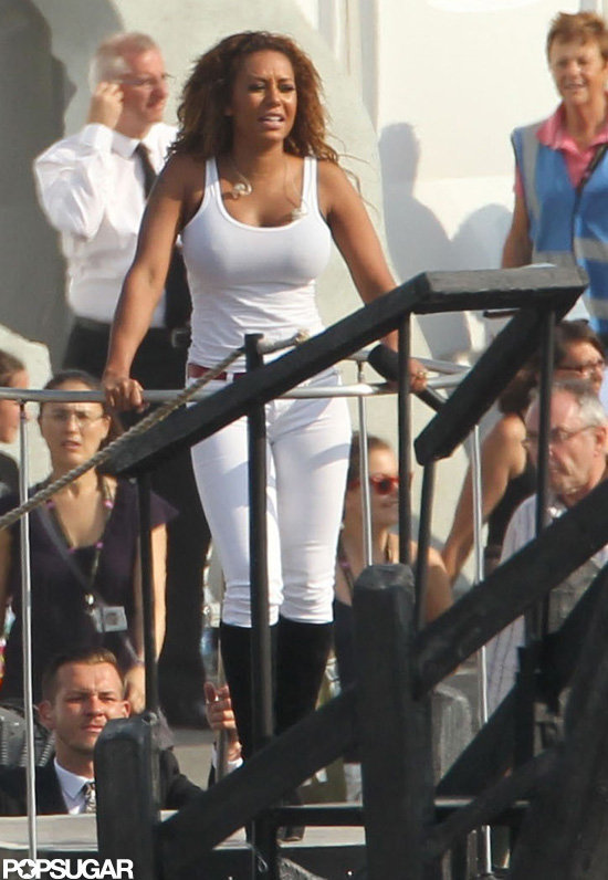 Melanie Brown rehearsed for the closing ceremony.
